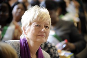 Portrait of Ilona Kickbusch, global health expert