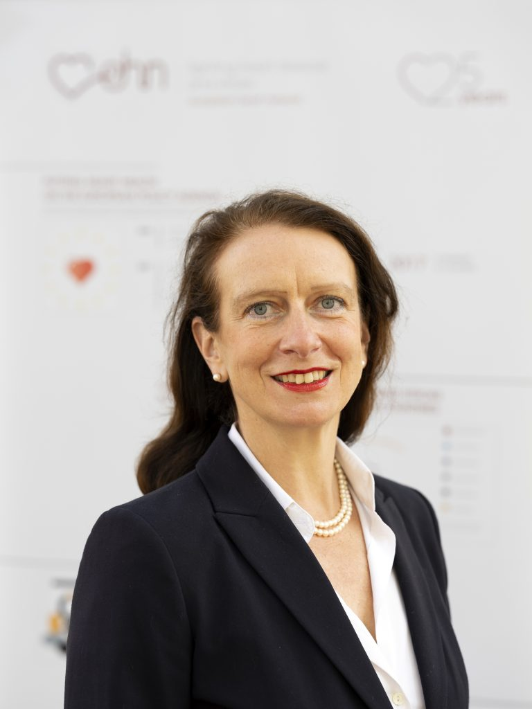 Portrait of Birgit Beger, Chief Executive Officer of the European Heart Network
