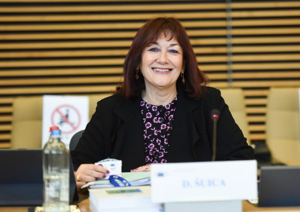 Portrait of Dubravka Šuica, Vice-President of the European Commission