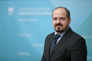 Portrait of Janez Poklukar, health minister of Slovenia since February 2021